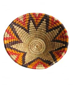 Africa | Swazi Grass Basket. |  Made from Lutindzi grass. This strong grass has been used in Swaziland for hundreds of years to make ropes and baskets.