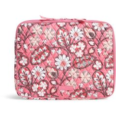 Vera Bradley Laptop Sleeve in Blush Pink (135 BRL) ❤ liked on Polyvore featuring accessories, tech accessories, blush pink, vera bradley, padded laptop case, pink laptop cases, laptop case and laptop sleeve cases