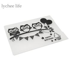 $1.92 (Buy here: https://alitems.com/g/1e8d114494ebda23ff8b16525dc3e8/?i=5&ulp=https%3A%2F%2Fwww.aliexpress.com%2Fitem%2FPlastic-Embossing-Folder-For-Scrapbook-DIY-Album-Card-Tool-Plastic-Template-Stamp-Cute-Owl-Happy-Birthday%2F32788308349.html ) Plastic Embossing Folder For Scrapbook DIY Album Card Tool Plastic Template Stamp Cute Owl Happy Birthday for just $1.92