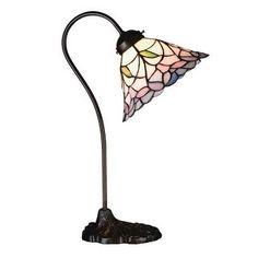 Meyda - 26590 - 18 Inch H Daffodil Bell Desk Lamp Table Lamps, Tiffany Glass Desk Light, Lamp Light, Torchiere Lamp, Bronze, Candelabra Bulbs, Bedroom Lamps, Bedroom Desk, Master Bedroom, Table Lamp Sets