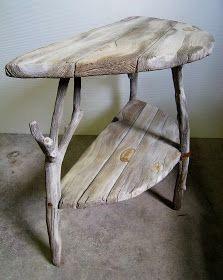 Driftwood Furniture, Driftwood Table, Driftwood Projects, Concrete Furniture, Log Furniture, Concrete Table, Furniture Removal, Furniture Ideas, Wooden Decor