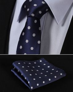Buy from us Men's Ties Woven Slim Narrow Pocket Square suite Set. Get a discount for the entire collection Men's Ties . Pocket Square Guide, Pocket Square Styles, Tie And Pocket Square, Pocket Squares, Polka Dot Tie, Blue Polka Dots, Mens Suit Accessories, Polka Dot Wedding, Skinny Ties