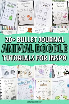 Want to add some super cute decoration to your bullet journals theme this month!? Check out these animal doodle tutorial spreads for inspiration! #bujo #bulletjournal #bujodoodle #doodles Bullet Journal Decoration, Bullet Journal Art, Bullet Journal Ideas Pages, Bullet Journal Spread, Bullet Journal Inspiration, Journal Pages, Bullet Journals, Bujo Doodles, Animal Doodles