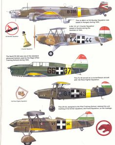 Aircraft of the Royal Hungarian Air Force Plate 2 Ww2 Aircraft, Fighter Aircraft, Military Aircraft, Luftwaffe, Westland Whirlwind, Steampunk Ship, Fighting Plane, Pilot Training, Defence Force