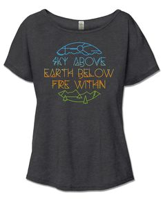 Fire Within Short Sleeve Slouch Top | Women's Organic Cotton T-Shirt | Yoga Clothes | Soul Flower