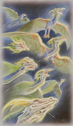 Celtic Dragon Tarot (DJ Conway, Lisa Hunt): 8 of Wands