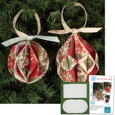 Wreath Ornament  Fabric Folding  Origami  Pinterest  Ornaments