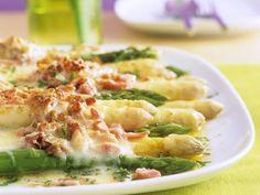 Recept Aspergegratin Een echte ovenschotel voor de lente I Love Food, Good Food, Yummy Food, Belgian Food, Cooking Recipes, Healthy Recipes, Happy Foods, Asparagus Recipe, Eat Smarter