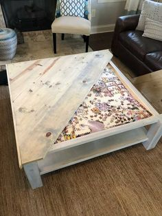 Easy DIY Coffee Table Design Ideas – Once you have located the right DIY coffee table plans, completion of your project will take just a few hours. Coffee tables can be created with just … Coffee Table Design, Diy Coffee Table Plans, Farmhouse Style Coffee Table, Coffee Tables, Woodworking Coffee Table Ideas, Coffee Table Painted, Coffee Ideas, Woodworking Furniture, Coffee Coffee