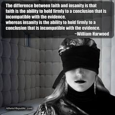Difference Between Faith and Insanity