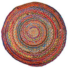 Rainbow Braided Round Rugs | Myakka