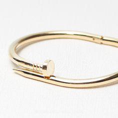 Classic Nail Bangle Bracelet – ShopMello.com #fashion #jewelry #dainty #trendy #style #shopping #love #classic