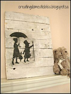 pallet artwork - super easy!