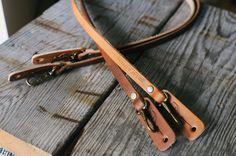 Tap & Dye leather camera strap
