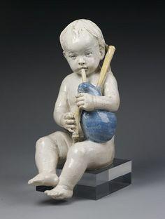 Andrea Della Robbia - Boy playing the bagpipes, Firenze | par renzodionigi