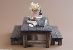 miniature picnic table or country table
