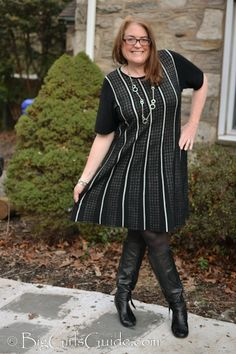 Plus Size Sweater Dress with Swing OOTD