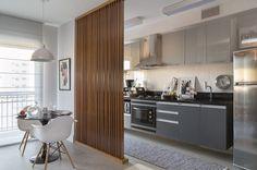 Divisões espertas em apartamento de 45 m² - Casa Vogue | Apartamentos