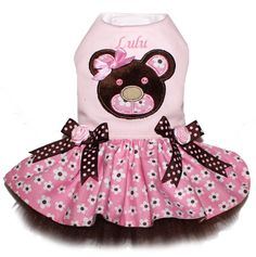 Vestido de Diseño Exclusivo Teddy Bear Dress, talla XXS