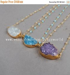5% Discount Beautiful Gold Plated Natural Agate por Druzyworld