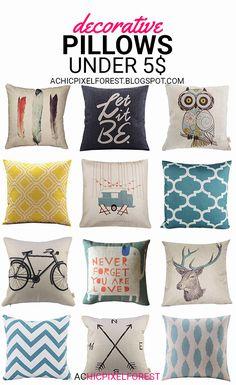 Decorative Pillows Under 5$
