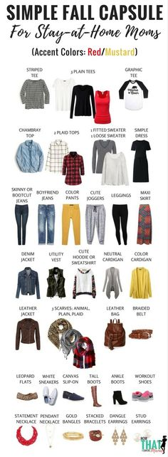 Are you a stay-at-home mom needing ideas for a flexibly stylish but comfortable fall wardrobe? Check out this simple ensemble that creates 72 outfits to keep you looking fabulous all fall! Click through for graphics and printables. Capsule Wardrobe Mom, Mom Wardrobe, Fall Wardrobe, Wardrobe Ideas, Simple Wardrobe, Capsule Outfits, Cute Leggings, Mom Outfits, Casual Outfits For Moms
