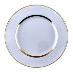 Assiette présentation Porcelaine de Limoges décor SHERRY BLANC