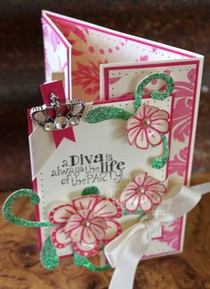Fun Stampers Journey  Divatude and Flower Party stamp sets  #FSJourney #Stamping #Scrapbook Fun Stampers Journey - FSJ