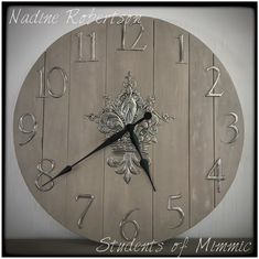 This magnificent Pewter clock was made by Nadine from our Wednesday class. Metal Embossing, Pewter Metal, Metal Art, Clocks, Wednesday, Students, Studio, Gallery, Inspiration