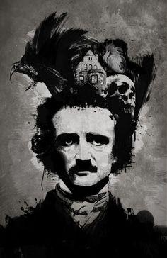Poe by matthewchilders http://matthewchilders.deviantart.com/art/Poe-187179622?q=boost%3Apopular%20edgar%20allan%20poe=75