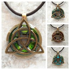 triquetra necklace: mens jewelry - celtic jewelry - mens necklace - boyfriend gift - irish jewelry - cord necklace - unique gift Celtic Knot Necklace, Celtic Knot Jewelry, Irish Jewelry, Jewelry Knots, Medieval Jewelry, Celtic Wedding, Tree Of Life Necklace, Green Necklace, Necklace Set