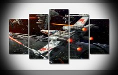 Mcanvas Star Wars Outer Space Spaceships X Wing Vehicles Desktop Canvas Print Wall A Framed Canvas Prints, Canvas Frame, Canvas Wall Art, Canvas Canvas, Painting Canvas, Spray Painting, Canvas Size, Art Prints, Star Wars