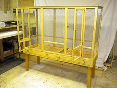 This deposit gets you a spot in line for construction of one of my cages. Bird Cage Design, Diy Bird Cage, Bird Cages, Parakeet Cage, Cockatiel Cage, Finch Cage, Flight Cage, Bird Aviary, Bird Toys