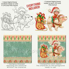Christmas Elf - Digital Stamp
