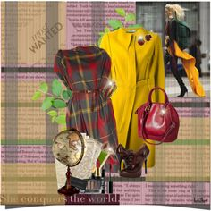 Mad About Plaid by heather-reaves on Polyvore featuring мода, Vivienne Westwood Anglomania, Jil Sander, Dsquared2, Dorothy Perkins, Wallis, Ardency Inn, MAC Cosmetics and Victoria Beckham