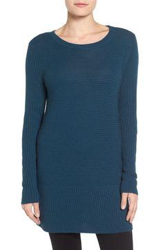 Halogen® Rib Knit Tunic (Regular & Petite) available at #Nordstrom