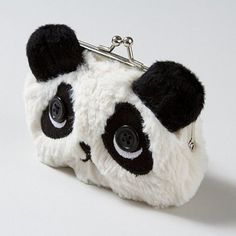 "Fuzzy Panda Coin Purse with button eyes!  This appeals to me and several'tween-type"" girls I know would proably love it, too."