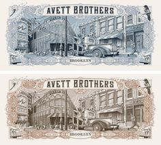 (Original & Variant Prints) The Avett Brothers - Barclays Center, Brooklyn, NY 2014 - by Dig My Chili