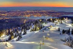 At The Top Of Vancouver BC ** by kevin mcneal Grouse Mountain ski area in North Vancouver _ British Columbia, Canada . Places Around The World, The Places Youll Go, Places To See, Vancouver British Columbia, North Vancouver, Vancouver Island, Vancouver Winter, Visit Vancouver, Downtown Vancouver