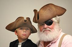 Tricorn Hat Distressed Faux Leather Like Man / Boy Pirate Jack Sparrow Caribbean In Stock • $29.95