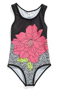 Limeapple+'Bahama'+One-Piece+Swimsuit+(Little+Girls+&+Big+Girls)+(Online+Only)+available+at+#Nordstrom