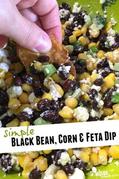 Check out this amazing black bean, corn and feta dip. It has that sweet and salty appeal and is good for you too! It is a crowd pleaser for many palates.
