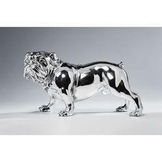 Διακοσμητικό Bulldogge Silver II Επιτραπέζιο διακοσμητικό γλυπτό μπουλντόγκ, σε γυαλιστερό επιχρωμιωμένο polyresin. Dog Lovers, Lion Sculpture, Puppies, Statue, Art, Art Background, Cubs, Kunst, Performing Arts