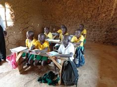 a well resourced mud walled classroom