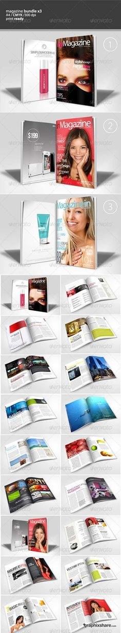 GraphicRiver Magazine Bundle Template