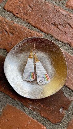 Chubbeadrings Unicorn and Rainbow Pride Symbol Beaded Earrings By Chubbeadrings by chubbybeadedearrings on Etsy