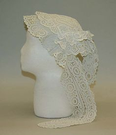 Cap, early 19th century, American, cotton. The Metropolitan Museum of Art.