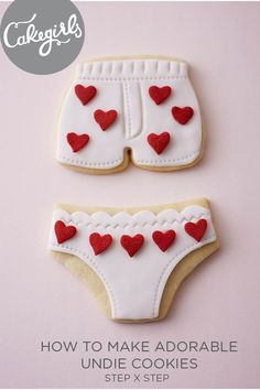 Learn how to make these incredibly easy Undie Cookies in our new Tutorial   Cakegirls Step x Step