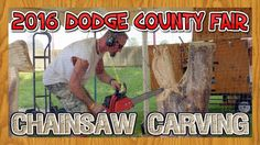 Wisconsin Event:  Chainsaw Carving Auction and Artist Demonstration at the 2017 Dodge County Fair