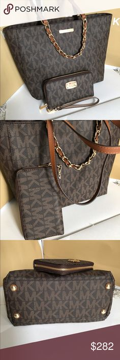 Michael Kors Shoulder Bag and Wallet Both brand. ew with tag!! %100 Authentic❤❤❤No trade Gift wrapping is available Michael Kors Bags Shoulder Bags